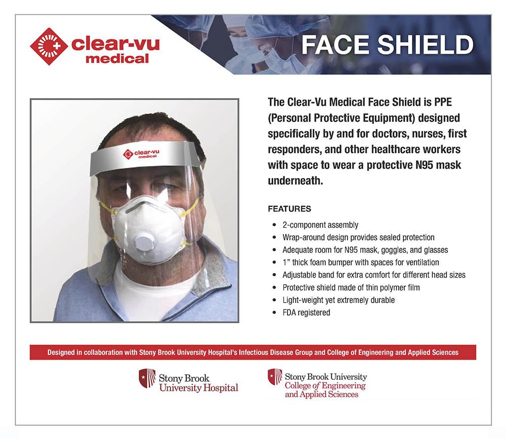 produce clear vu medical face shield