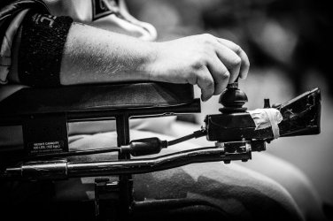 PowerHockey, which has rules similar to hockey, is played by disabled athletes in electric wheelchairs.