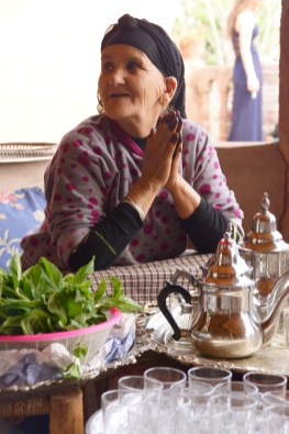 "First Place, Intercultural Exchange: Photo by Angela Feyder, Marrakech, Morocco. ""Berber grandmother preparing fresh mint tea."""
