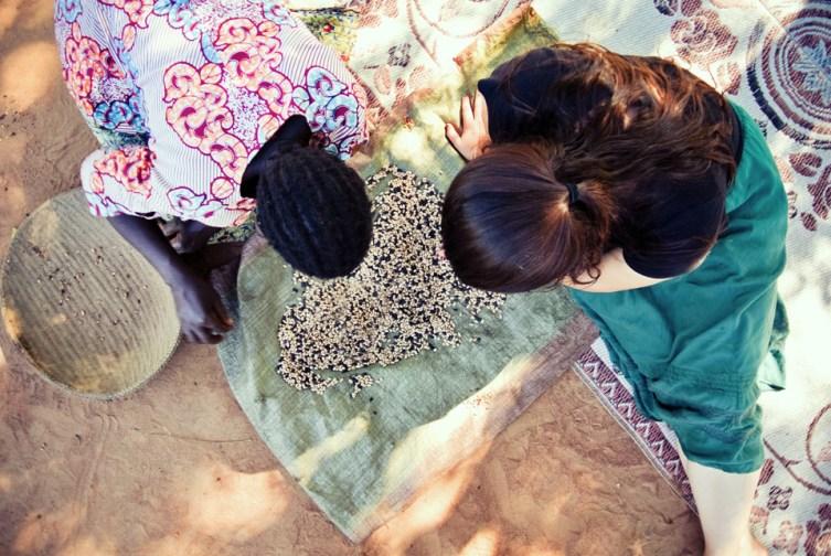 "Second Place, Intercultural Exchange: Photo by Rachel Larson, Kitgum District, Uganda. SIT. ""Sorting Beans."""