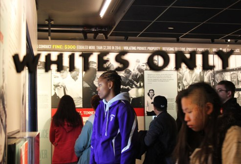 Tiana Daniels tours the National Civil Rights Museum in Memphis. Photo by Kathryn Hubly.