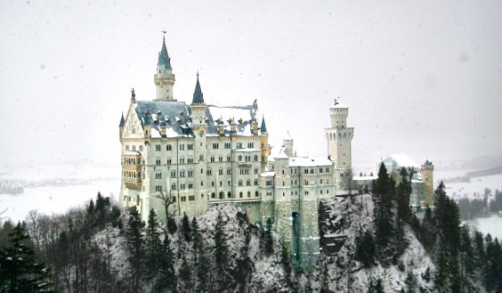 "Third place, Sense of Place: Josh Boris Schwangau, Germany. ""This photo of Neuschwanstein Castle was taken in a heavy snowfall from Marie Bridge, a wooden bridge 91 meters above the ground. As soon as our class arrived at the castle it began to snow heavily. After touring the inside of the castle some class members heard of a great lookout spot with a beautiful view of the castle. This picture is a product of that adventure."""