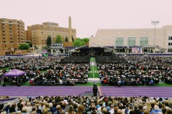 Students, family, friends, faculty and staff filled O'Shaughnessy Stadium on Saturday for the St. Thomas 2018 commencement ceremony.