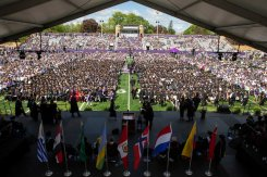 O'Shaughnessey Stadium was full for undergraduate commencement.