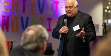 Ron Fowler, President Julie Sullivan, former finalists and other university VIP gathered to celebrate the tenth anniversary of the Fowler Business Concept Challenge and honor the Ron Fowler in the Create Space of the Anderson Student Center on November 15, 2018.