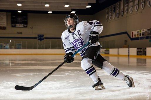 Hockey player Anna Williams skates the the St. Thomas Ice Arena. Mark Brown/University of St. Thomas
