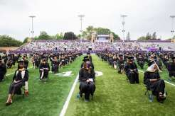 Students attend the graduate commencement ceremony. Liam James Doyle/University of St. Thomas
