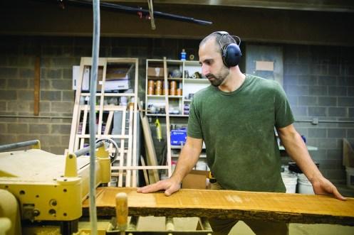Dan Purkapile in his workhop.