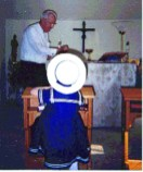 Monsignor Murphy in his private chapel.