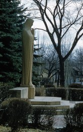 A side view of the Our Lady Queen of Peace Shrine, April 1961.