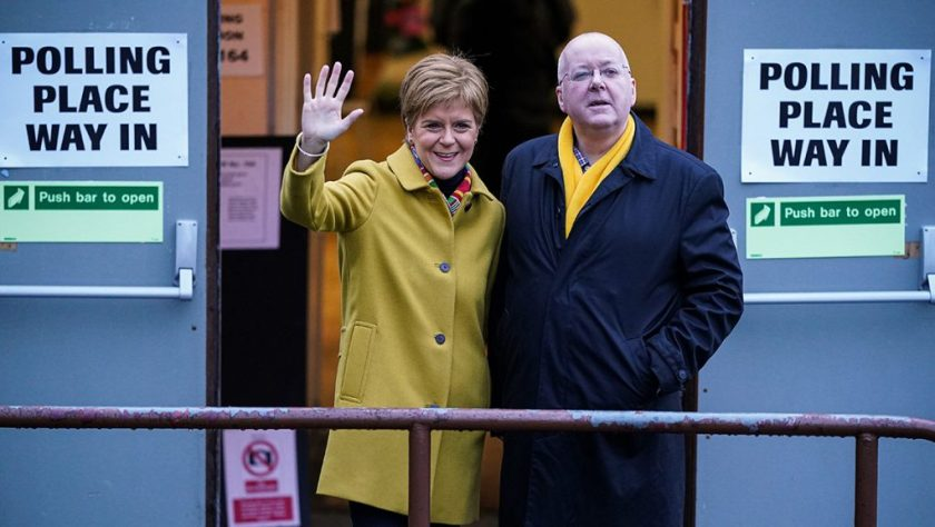 First Minister Nicola Sturgeon and her husband, SNP chief executive Peter Murrell.