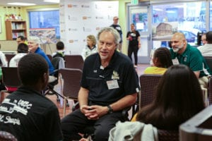 President Drumm at Inside Higher Ed's The Presidents Meet the Students event
