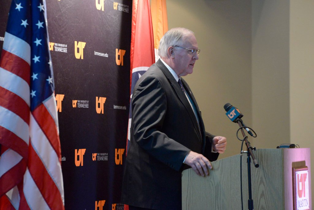 The UT Board of Trustees honored former UT Martin Chancellor Tom Rakes, who retired in May of 2015.