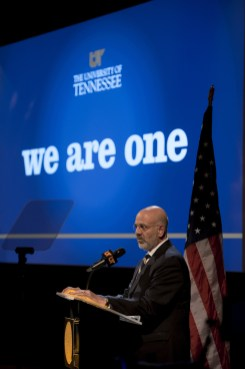 Joe DiPietro delivers his second State of the University address
