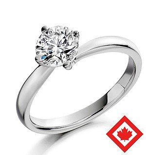 Canadian Lily Diamond Ring