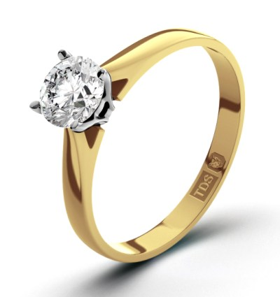 One carat E colour diamond ring