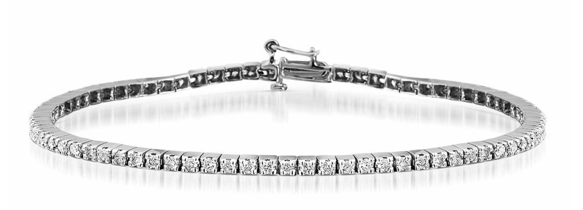 2CT Diamond Tennis Bracelet in 9K White Gold Item I3514