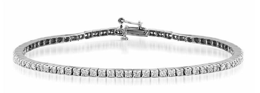 2CT Diamond Tennis Bracelet in 9K White Gold Item I3514