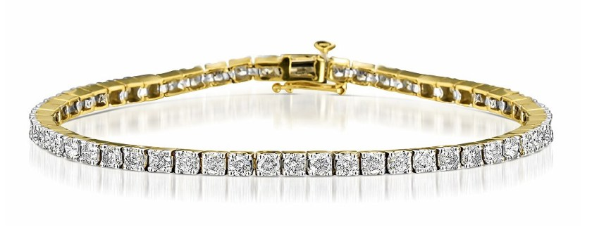 5CT Diamond Tennis Bracelet in 9K Yellow Gold Item I3594
