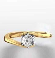 Jaqueline Jossa style Certified Leah 18K Gold Diamond Engagement Ring 0.33CT Item UT20 55RMA