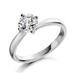 Certified Lily 18K White Gold Diamond Engagement Ring 0.50CT Item UT24 72RMY