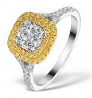 Iggy Azalea style engagement ring with yellow diamonds