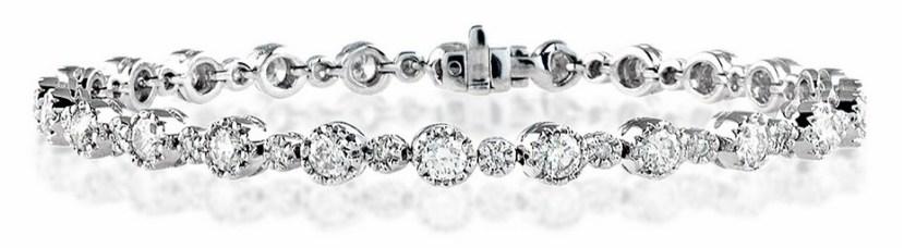 Tennis Bracelet 3.50CT Diamond 18KW Item J3333