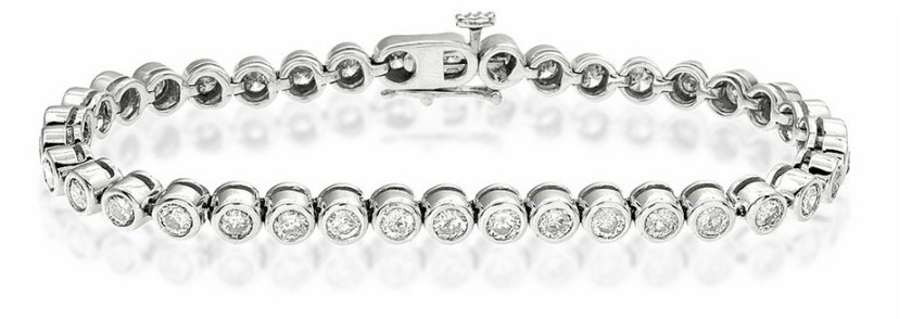 Tennis Bracelet 4.00CT Diamond 9K White Gold Item I3377