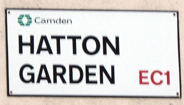 Hatton Garden Street Sign