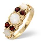 Garnet and opal ring
