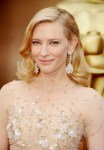 Cate Blanchett wearing opal earrings at the Oscars
