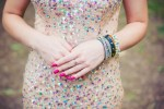 Opal inspired sequin dress