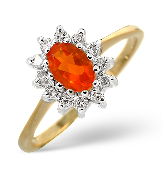 Fire Opal - Meaning of Gem Colour in Engagement Rings