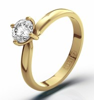 Certified Lily 18K Yellow Gold 0.50CT Diamond Solitaire Ring – CLICK TO VIEW