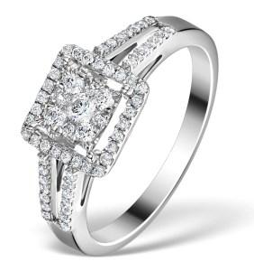 Galileo Halo 0.50ct Diamonds in 18K Gold