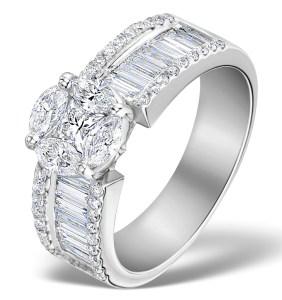 Galileo 1.76ct H/Si Diamonds in Platinum