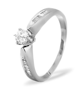 Sidestone Engagement Ring 0,40CT Diamonds