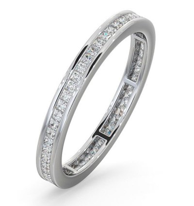 Best Christmas Jewellery Gifts - White gold eternity ring with princess cut diamonds