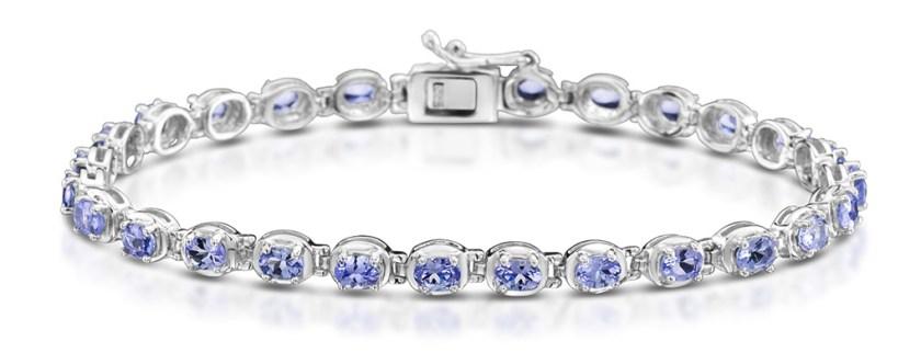 Tanzanite silver bracelet by TheDiamondStore.co.uk