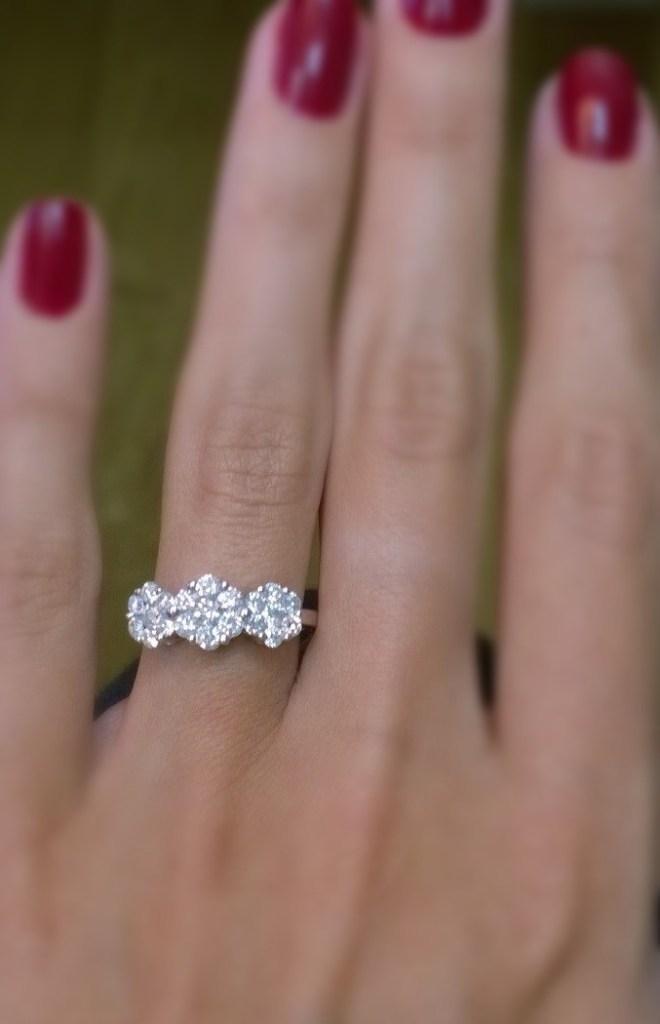 Chloe 3-stone Diamond Ring 1.00CT