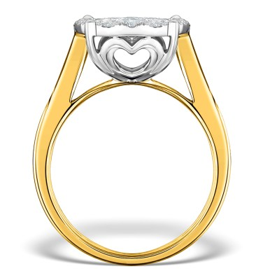 A unique yellow gold diamond cluster engagement ring TheDiamondStore UK