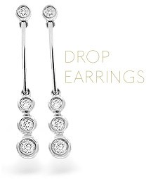 Beautiful diamond drop earrings perfect gifts for Valentine's Day from The Diamond Store UK