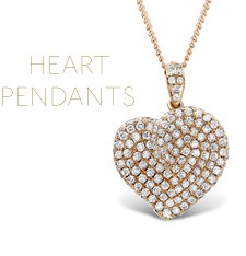 Beautiful diamond heart pendants from The Diamond Store UK