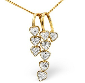 Diamond heart necklace perfect for valentines under 300 pounds at TheDiamondStore UK