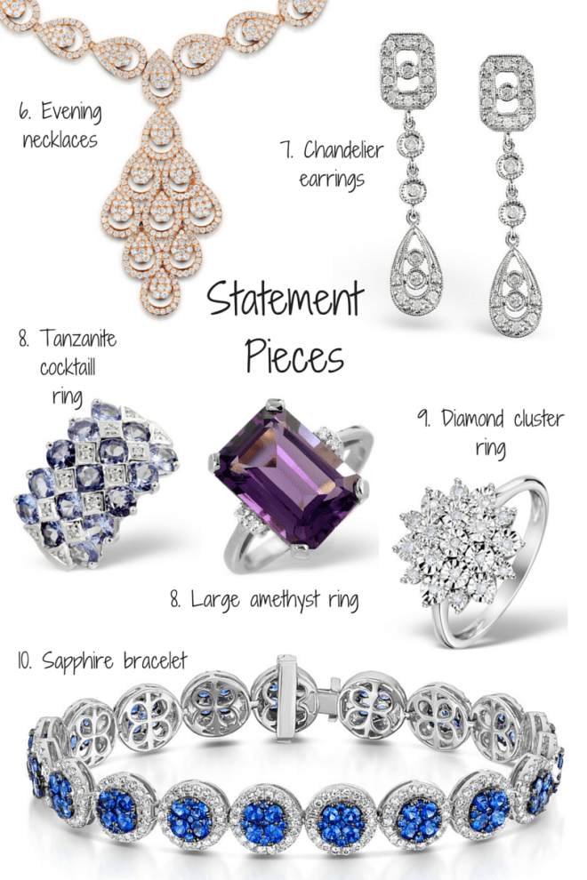 How to pick jewellery statement pieces for your collection - tips by TheDiamondStore UK