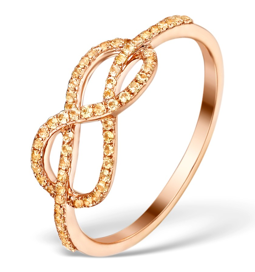 Rose gold and yellow sapphire ring from the Vivara Collection by TheDiamondStore UK