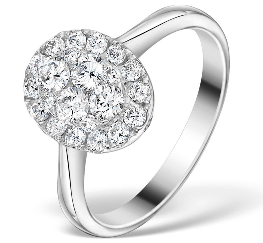 Michael Phelps diamond cluster style engagement ring he gave to Nicole Johnson