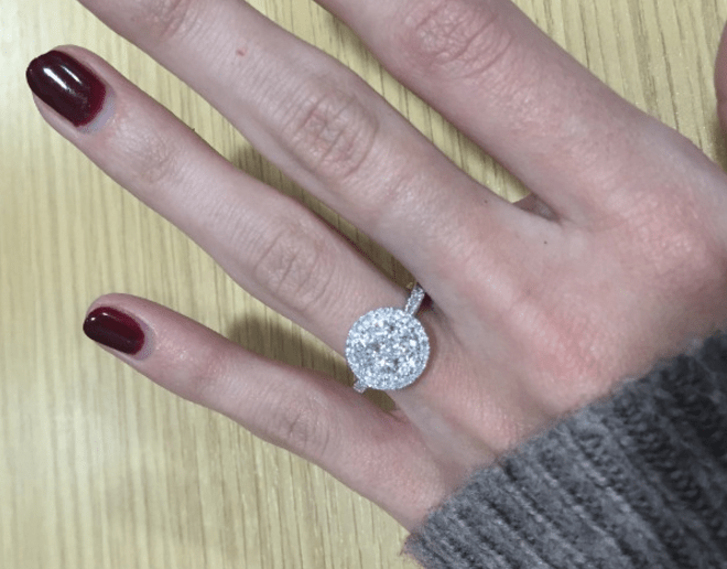 Galileo diamond cluster ring brings a plain outfit to life - how to build a jewellery collection