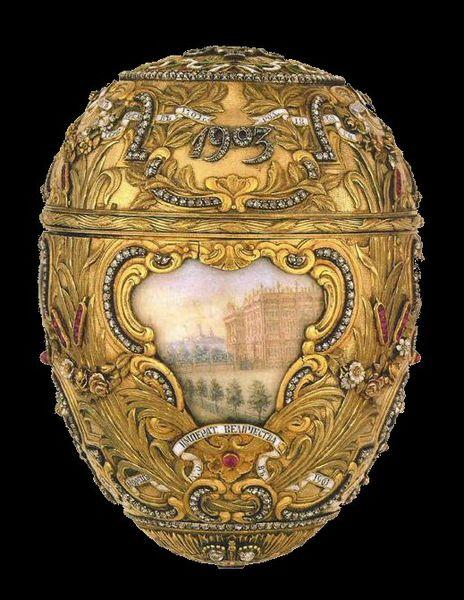 "The ""Peter the Great Egg"" created by Fabergé for Czar Nicholas II as an Easter gift for his wife - Easter egg jewellery"