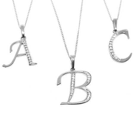 WHITE GOLD DIAMOND INITIAL 'A' PENDANT - Best 10 Graduation Gifts